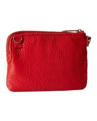 Fossil | Red Small Zip Wristlet | Lyst