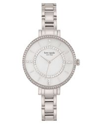 kate spade new york - Metallic 'gramercy' Crystal Bezel Bracelet Watch - Lyst