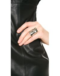 Kenneth Jay Lane - Metallic Shield Ring - Lyst