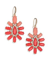 ABS By Allen Schwartz | Pink Sunset Blvd Floral Chandelier Earrings | Lyst