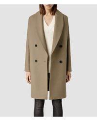 AllSaints - Natural Ember Nesi Coat - Lyst