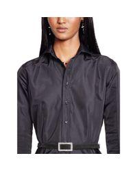 Ralph Lauren Black Label - Black Cobie Silk Shirtdress - Lyst