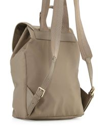 Tory Burch - Brown Slouchy Nylon Backpack - Lyst