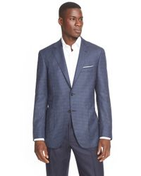 Canali - Blue Classic Fit Nail-head Wool Sport Coat for Men - Lyst