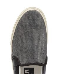 Golden Goose Deluxe Brand - Gray Slip-on Sneakers With Leather - Silver for Men - Lyst