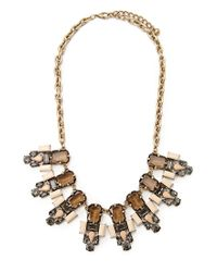 Forever 21 | Pink Faux Stone Statement Necklace | Lyst