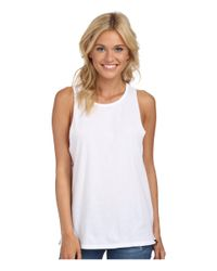 Hurley - White Solid Riot Biker Tank - Lyst
