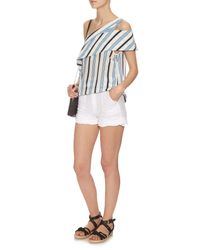 M.i.h Jeans - White Amas Broderie-anglaise Shorts - Lyst