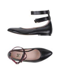 M Missoni | Black Ballet Flats | Lyst