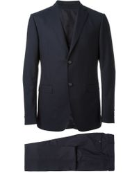 Z Zegna - Blue Patterned Three-piece Suit for Men - Lyst