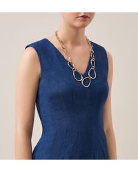 Hobbs | Metallic Lucy Necklace | Lyst