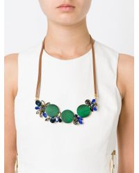 Marni - Blue Contrasting Panel Necklace - Lyst