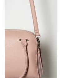 Forever 21 - Pink Double-zip Faux Leather Satchel - Lyst