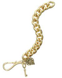 Lauren by Ralph Lauren - Metallic Gold-Tone Charm Chain Link Bracelet - Lyst