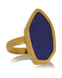 Monica Vinader | Metallic Atlantis Gold-Plated Lapis Ring | Lyst