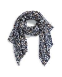 Tory Burch | Blue Kaleidoscope Print Wool Scarf | Lyst