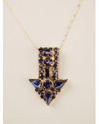 Stella McCartney - Blue Arrow Necklace - Lyst