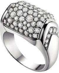 BVLGARI | Metallic Mvsa 18kt White-gold Ring | Lyst