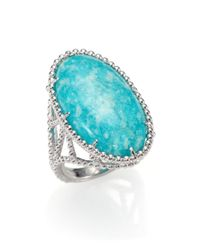 Judith Ripka - Blue Marrakech Amazonite Sterling Silver Ring - Lyst