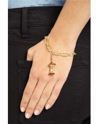 Aurelie Bidermann - Red 18-Karat Gold, Ruby And Diamond Apple Core Charm - Lyst