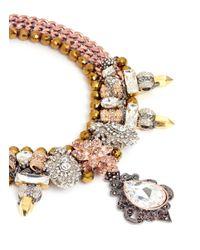 Assad Mounser - Brown 'garnet' Glass Crystal Spike Collar Necklace - Lyst