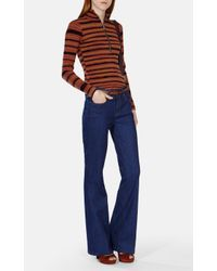 Karen Millen - Multicolor Stripe Roll Neck Jumper - Lyst