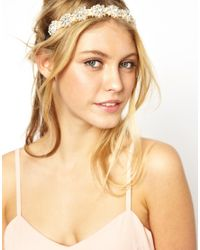 ASOS - Orange Pretty Flower Jewel Hairband - Lyst