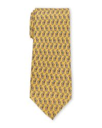 Pierre Cardin | Metallic Teddy Bear Balloon Silk Tie for Men | Lyst