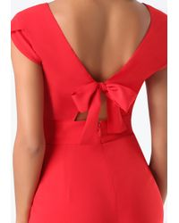 Bebe | Red Petite Emma Bow Jumpsuit | Lyst