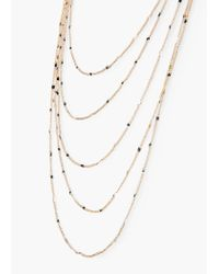 Mango | Metallic Multiple Chain Necklace | Lyst