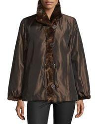 Gorski - Brown Reversible Mink-fur Spread-collar Jacket - Lyst