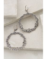 Anthropologie | Metallic Filigree Garland Hoops | Lyst