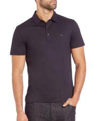 Michael Kors - Black Logo Cotton Polo for Men - Lyst