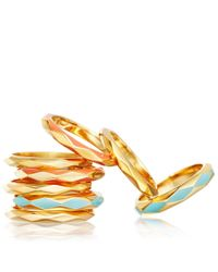 Astley Clarke   Metallic Cajun Shrimp Faceted Ring   Lyst