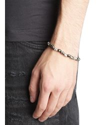 Simon Carter | Metallic Gunmetal And Silver Tone Skull Bracelet for Men | Lyst