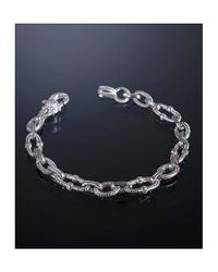Judith Ripka | Metallic Sterling Silver 'Berge' Link Bracelet | Lyst