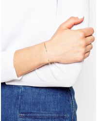 ASOS - Metallic Gold Plated Sterling Silver Fine Cuff Bracelet - Lyst