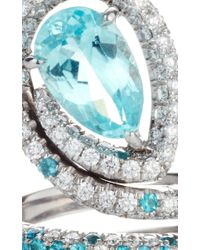 Paolo Costagli - Blue Pear Shaped Agl Certified Paraiba Type Tourmaline Snake Ring - Lyst