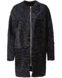 32 Paradis Sprung Freres - Black Reversible Fur Coat - Lyst