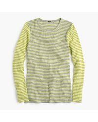 J.Crew | Gray Waffle T-shirt In Stripe | Lyst