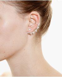 Yvonne Léon - Metallic 18K Gold And Diamond Leaf Chain Earring - Lyst