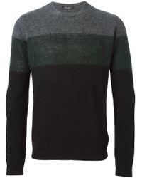 Roberto Collina - Black Color Block Sweater for Men - Lyst