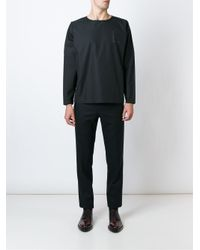 Etudes Studio - Black Boxy Longsleeved T-shirt for Men - Lyst