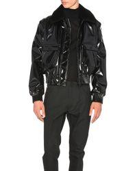 Calvin Klein | Black Jacksdale Vinyl Bomber | Lyst