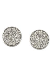 Effy | Trio Diamond And 14K White Gold Button Stud Earrings | Lyst