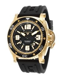 Swiss Legend - Typhoon Black Dial Gold-tone Case Black Silicone for Men - Lyst