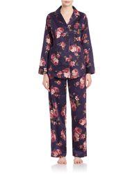 Lauren by Ralph Lauren | Multicolor Plus Classic Notched-collar Pajama Set | Lyst