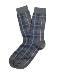Brooks Brothers | Gray Tartan Multi-plaid Crew Socks for Men | Lyst