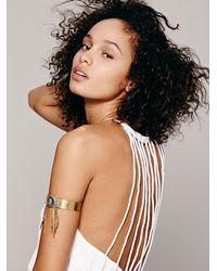 Free People - Metallic De Petra Womens Cosmic Eye Upper Arm Cuff - Lyst