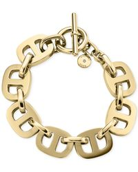 Michael Kors | Metallic Maritime Golden Toggle Bracelet | Lyst
